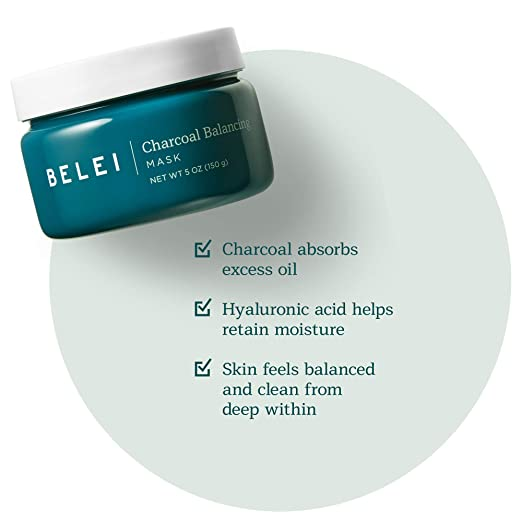 Belei Charcoal Balancing Mask, Fragrance Free, Paraben Free, 5 Ounce (150 g) best charcoal mask
