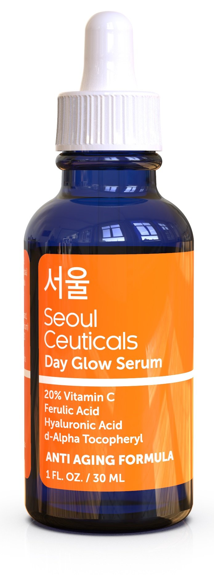 Korean Skin Care K Beauty - 20% Vitamin C Hyaluronic Acid Serum + CE Ferulic Acid Provides Potent Anti Aging, Anti Wrinkle Korean Beauty 1oz by SeoulCeuticals