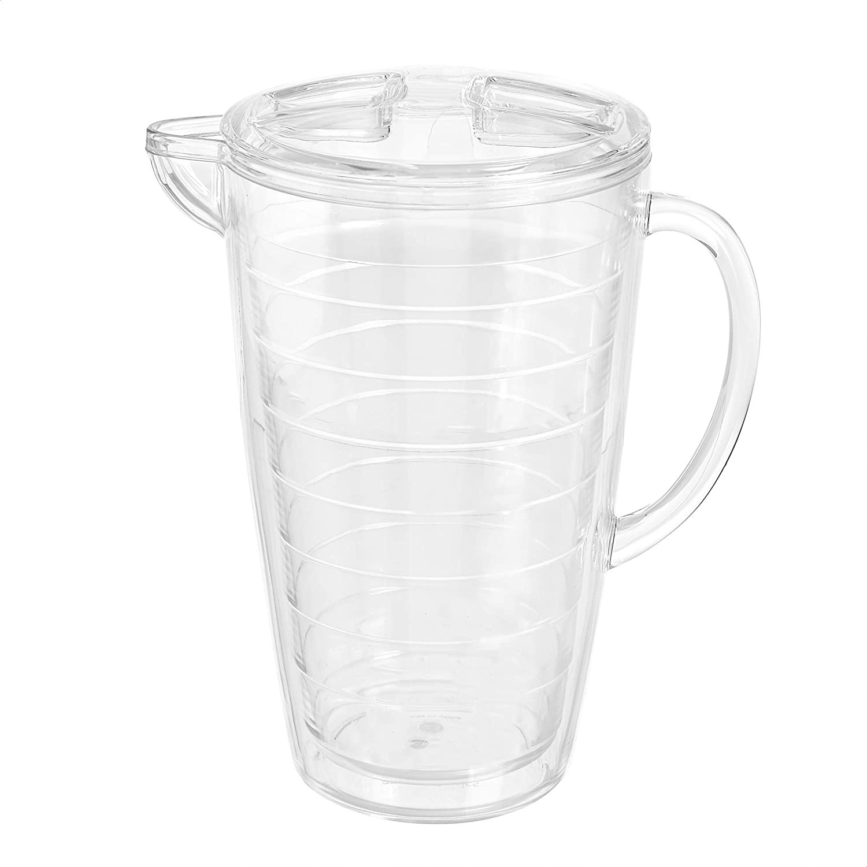 AmazonBasics 2.5-Quart Infuser Pitcher - Fruit Infusion Flavor Pitcher, BPA Free