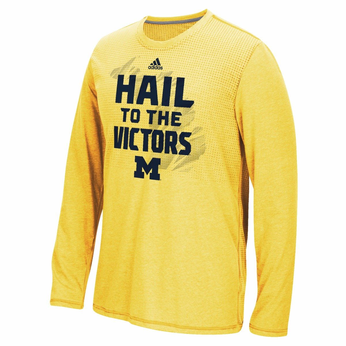 e1dd13cdb Amazon.com   Michigan Wolverines NCAA Adidas Men s Gold Sideline Energy  Aeroknit Long Sleeve T-Shirt (2XL)   Sports   Outdoors