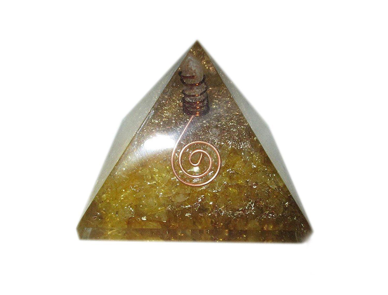 Bolsita a + + Amarillo Chakra orgón pirámide Metal de cobre de cristal gemas: Amazon.es: Juguetes y juegos