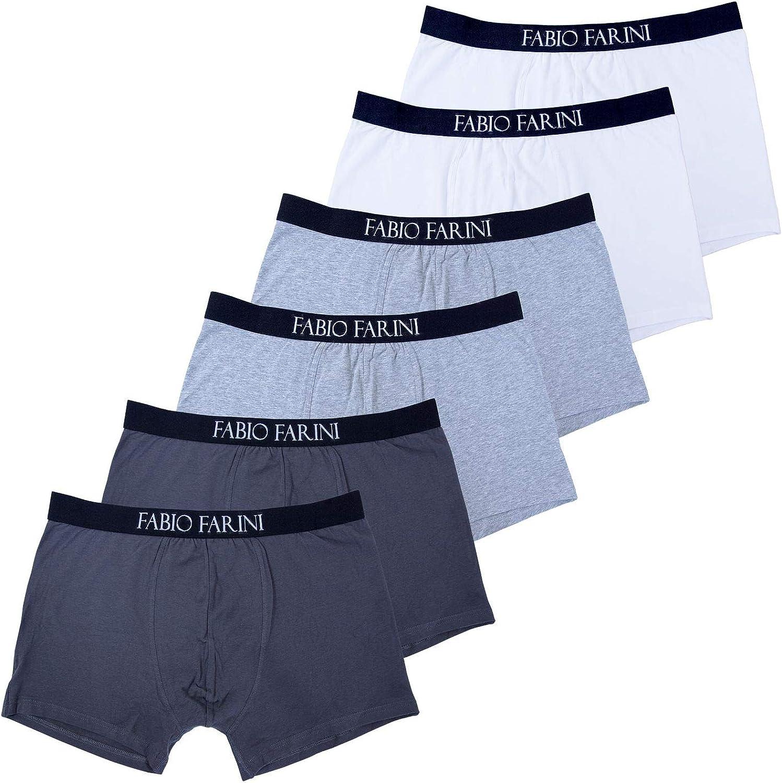 Fabio Farini 6-Pack Hombres Boxershorts de Algodón Retroshorts Pantalones Ropa Interior