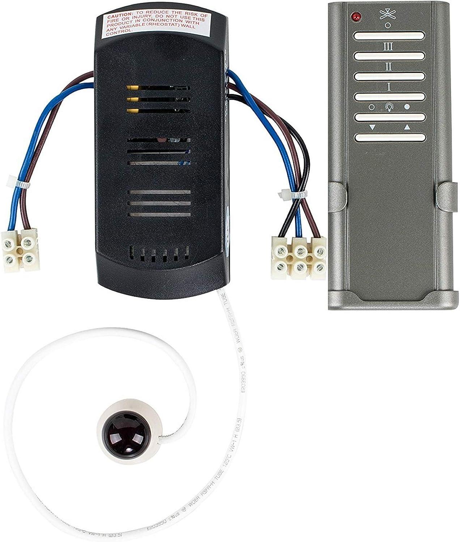 MiniSun - Mando a distancia para ventiladores eléctricos. Kit Completo – con 3 niveles de velocidad y control de luz