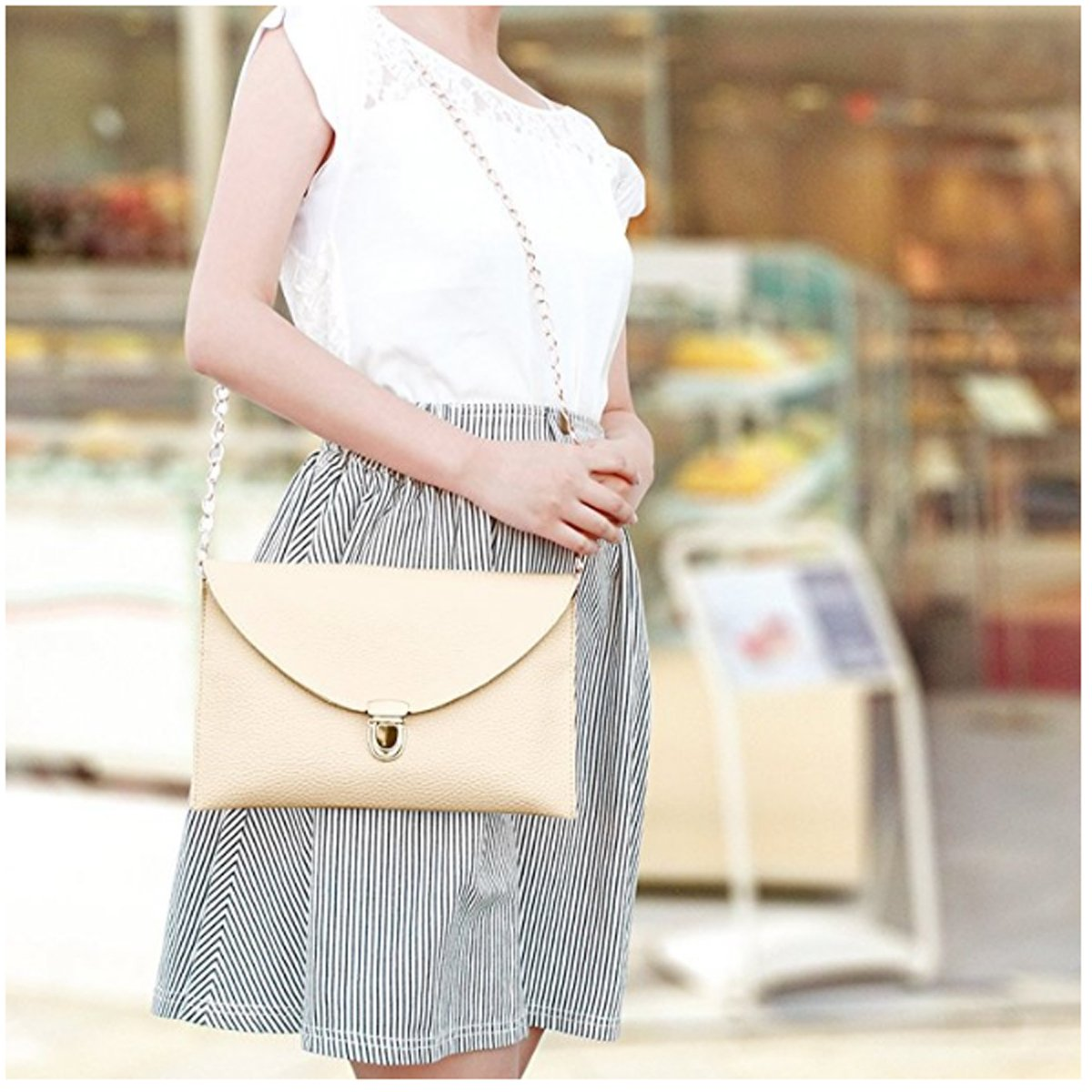 Amaze Fashion Women Handbag Shoulder Bags Envelope Clutch Crossbody Satchel Purse Tote Messenger Leather Lady Bag
