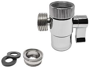 AVAbay Polished Chrome Faucet Diverter Valve-Handheld Handshower Bidet Shattaf Hot/Cold Bathroom Sink Adapter-Hose Attachment Connector Diaper Sprayer for Water Diversion