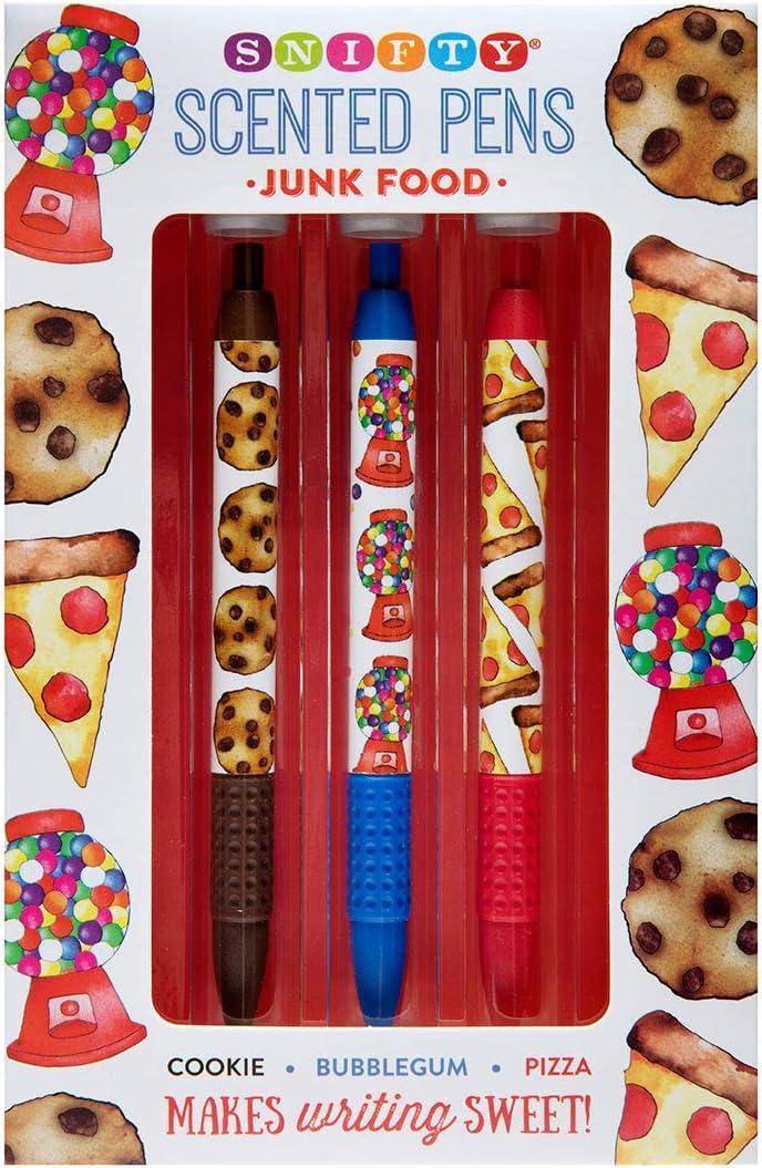 Junk Food Scented Pen Set (3pk) - Cookie, Bubblegum, Pizza