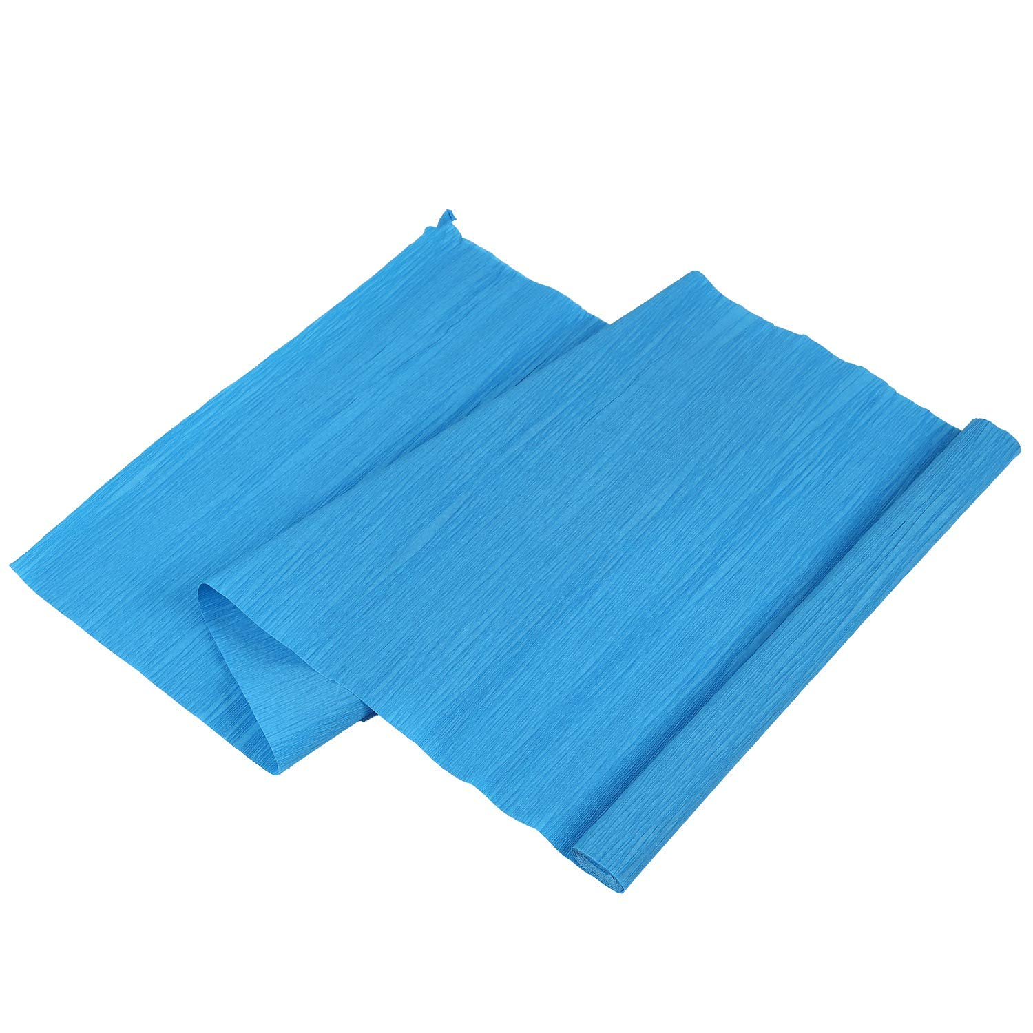 R 1 Roll DIY Flower Packing Crepe Papers Handmade Materials Crinkled Paper for Birthday Wedding Party Decoration 25050cmm(blue) SODIAL