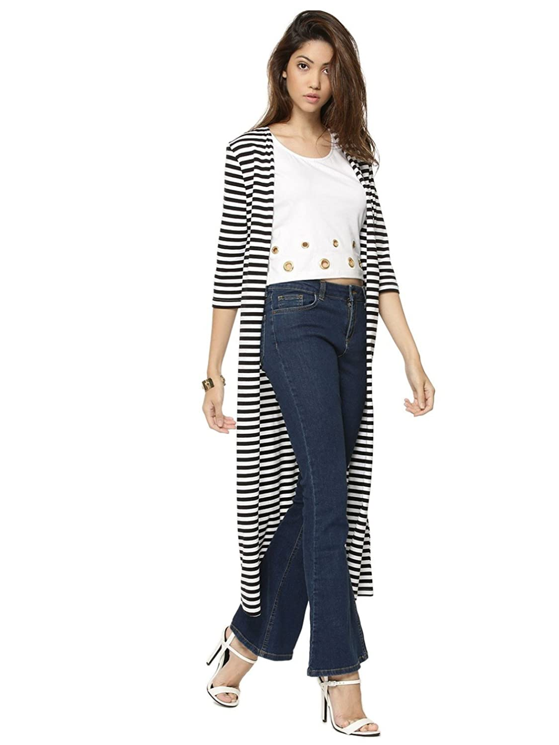 Raabta Strip Long Cardigan: Amazon.in: Clothing & Accessories