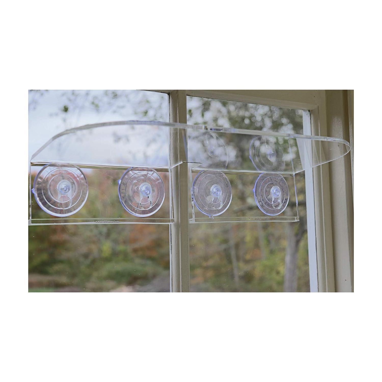 Double Veg Ledge Suction Cup Window Shelf – Create an Indoor Garden, Hold Your Planter pots, Seed Starter, Figurines on Your Window. Grow Herbs, Microgreens, Succulents, Flowers. Sleek, Dependable.
