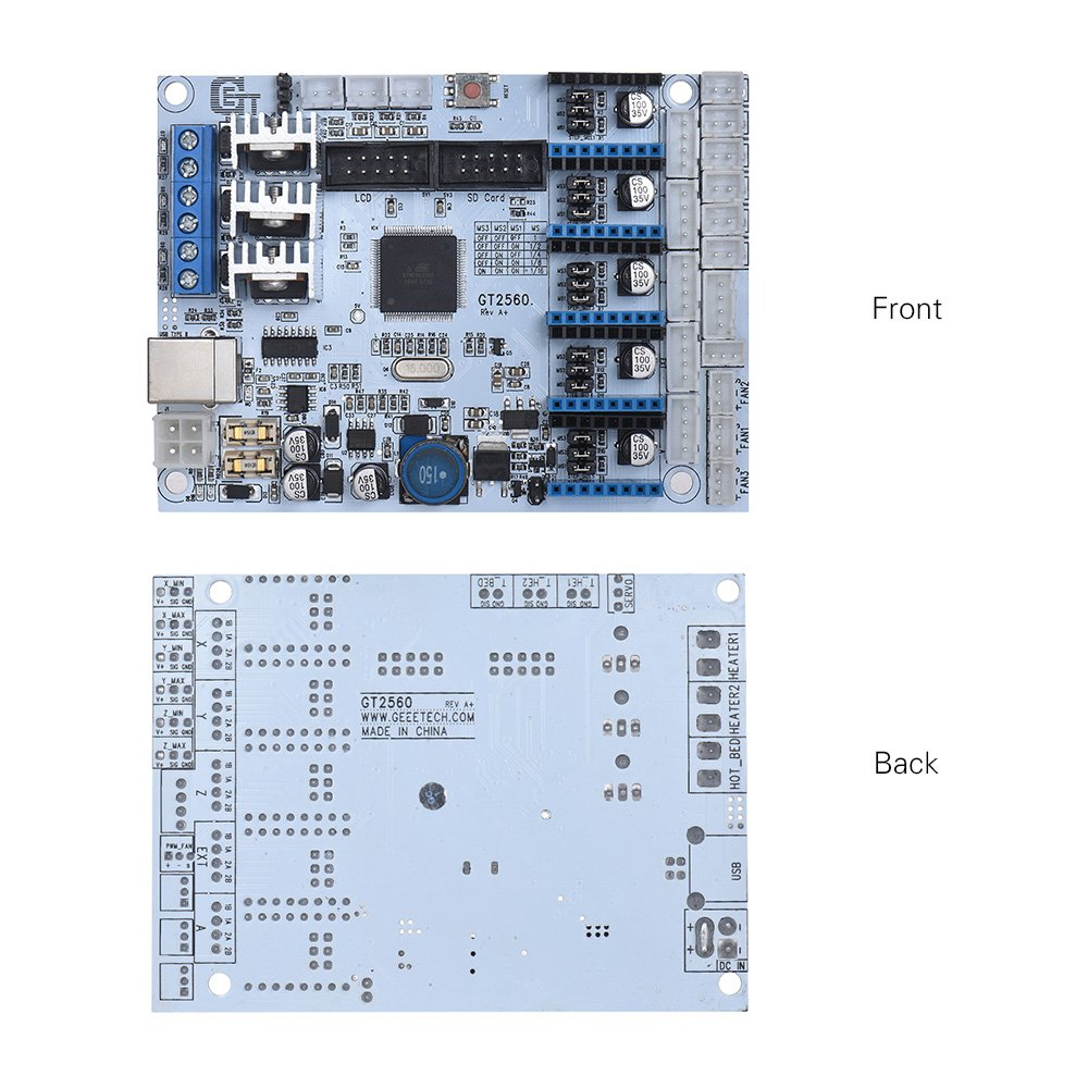 Entweg 3D Printer Controller Board,GT2560 3D Printer Controller Board Substitute Mega 2560+Ultimaker//Ramps 1.4 Kit for Geeetech