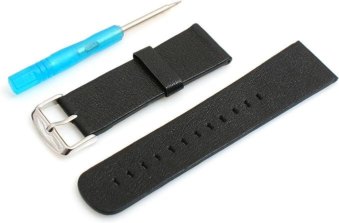 Sistema de Cambio Piel S sustituir Pulsera Wrist Band Reloj Banda 18 cm Negro 42 mm para Apple Watch: Amazon.es: Electrónica