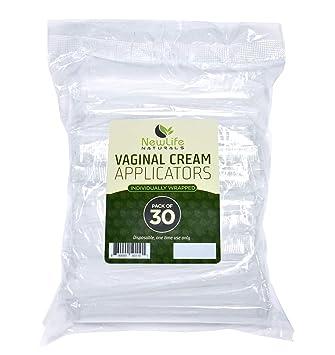 Plastics vaginal applicator