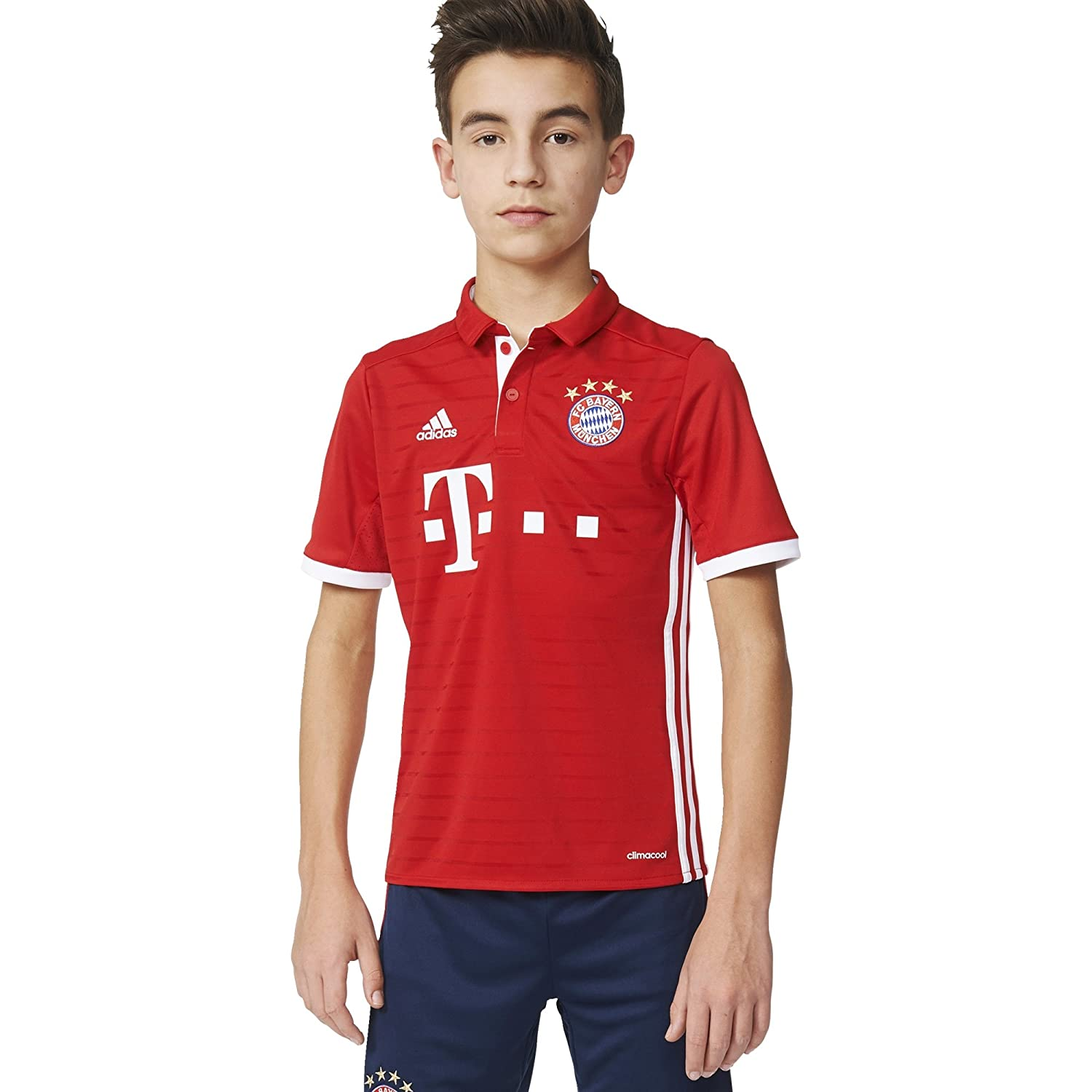 Rouge blanc petit adidas International Soccer Youth Jersey