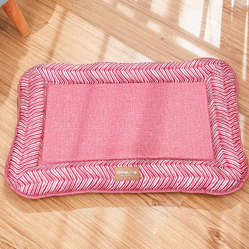 RedXL ADFHGFJ Pure color simple pet bed provides pets with rest in of cushions suitable for four seasons