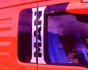 4embellecedores para puertas de camiones MAN TGA y TGX, acero inoxidable pulido,
