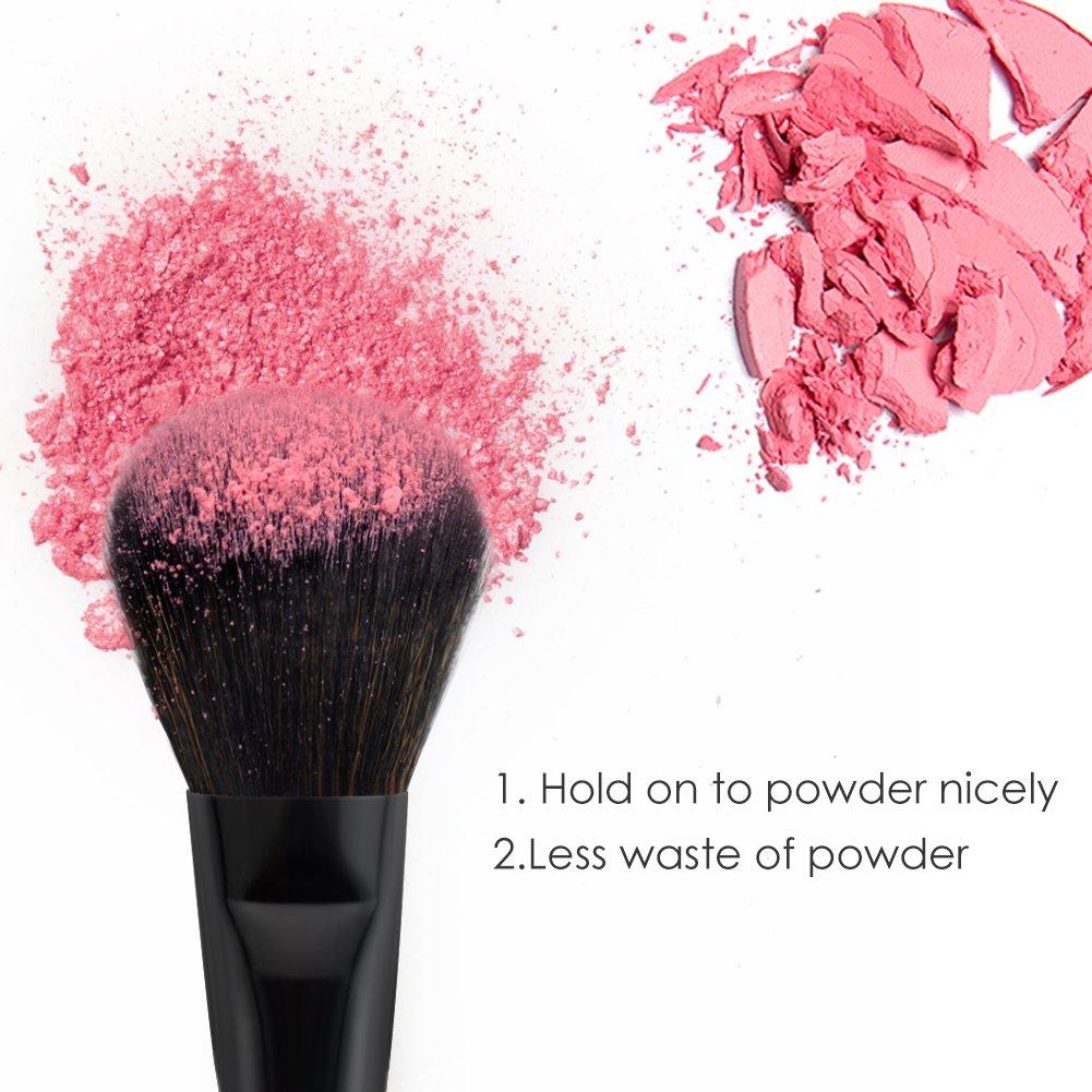 ... cosmética Profesional 7pcs Set/Kit Cosmética Brush Belleza Maquillaje Cepillo Makeup Brushes cosmética Fundación con Bolsa Negro: Amazon.es: Belleza