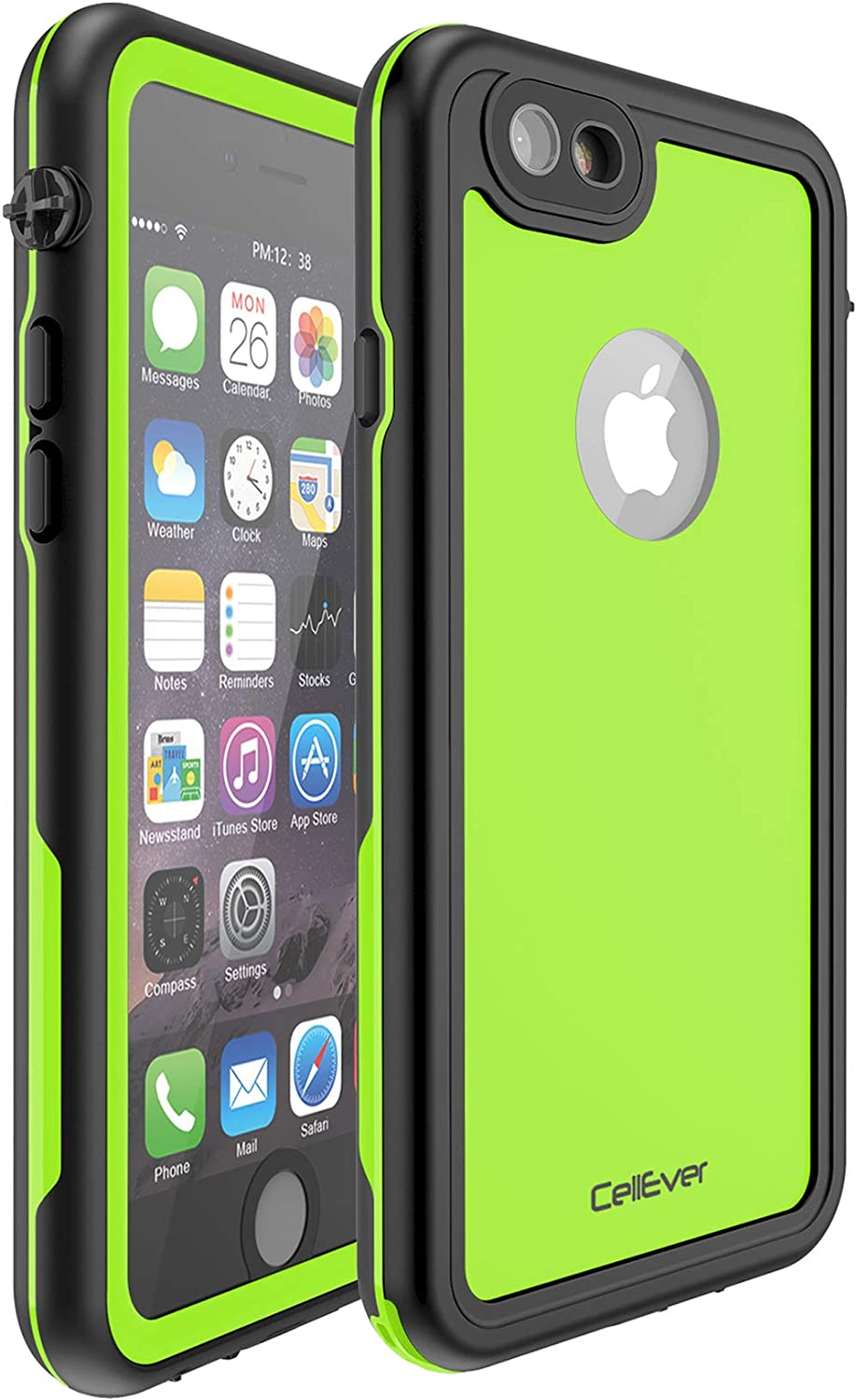 CellEver iPhone 6 Plus / 6s Plus Waterproof Case Shockproof IP68 Certified SandProof Snowproof Full Body Protective Cover Fits iPhone 6 Plus and iPhone 6s Plus KZ C-Lime Green