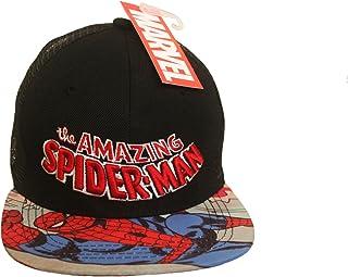 The Amazing Spider - Man Black Licensed SNAP-Back Hip HOP Hat Cap Marvel Ages : 10 New