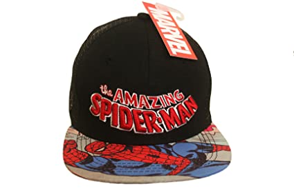 44dfd165dd9 Amazon.com  Marvel THE AMAZING SPIDER-MAN Black Licensed SNAP-BACK ...