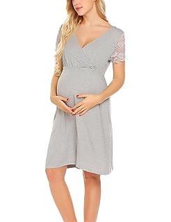 Schwangere Damen Umstandsmode Kleid Ärmellos O-Ausschnitt Schwangerschaftkleider
