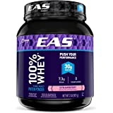 EAS 100% Pure Whey Protein Powder, 30g of Protein, Strawberry, 2lb (Packaging May Vary)