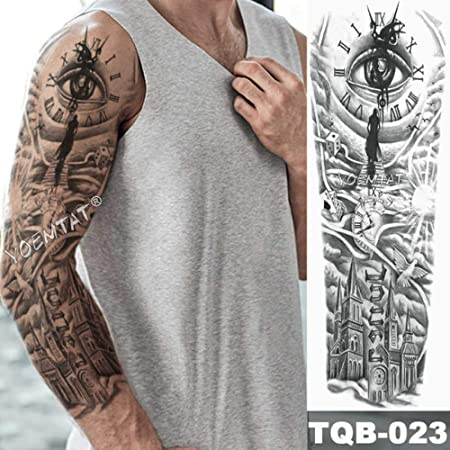 Brazo grande Manga Tatuaje Espada antigua Tatuaje impermeable ...