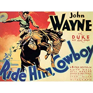 Film Movie West Duke John Wayne Ride Him Cowboy Unframed Wall Art Print Poster Home Decor Premium