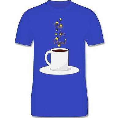 Küche - Kaffee-Tee-Spruch - S - Royalblau - L190 - Herren T