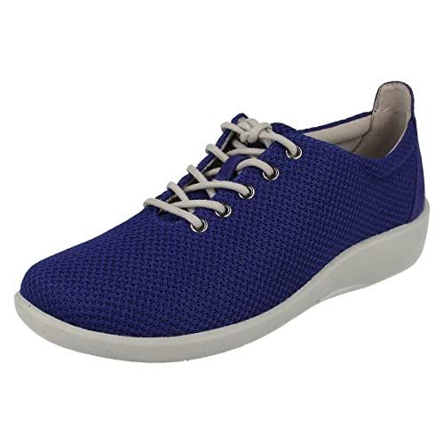 c58fd69c0b4ab Clarks Womens Casual Clarks Sillian Tino Textile Shoes In Blue Wide Fit  Size 7