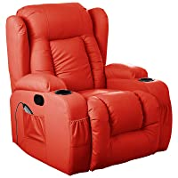 d pro 10 in 1 winged leather recliner chair