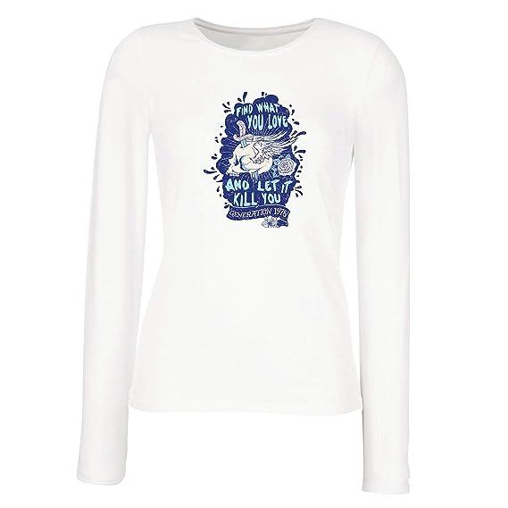 lepni.me Camisetas de Manga Larga para Mujer Encuentra lo: Amazon.es: Ropa y accesorios