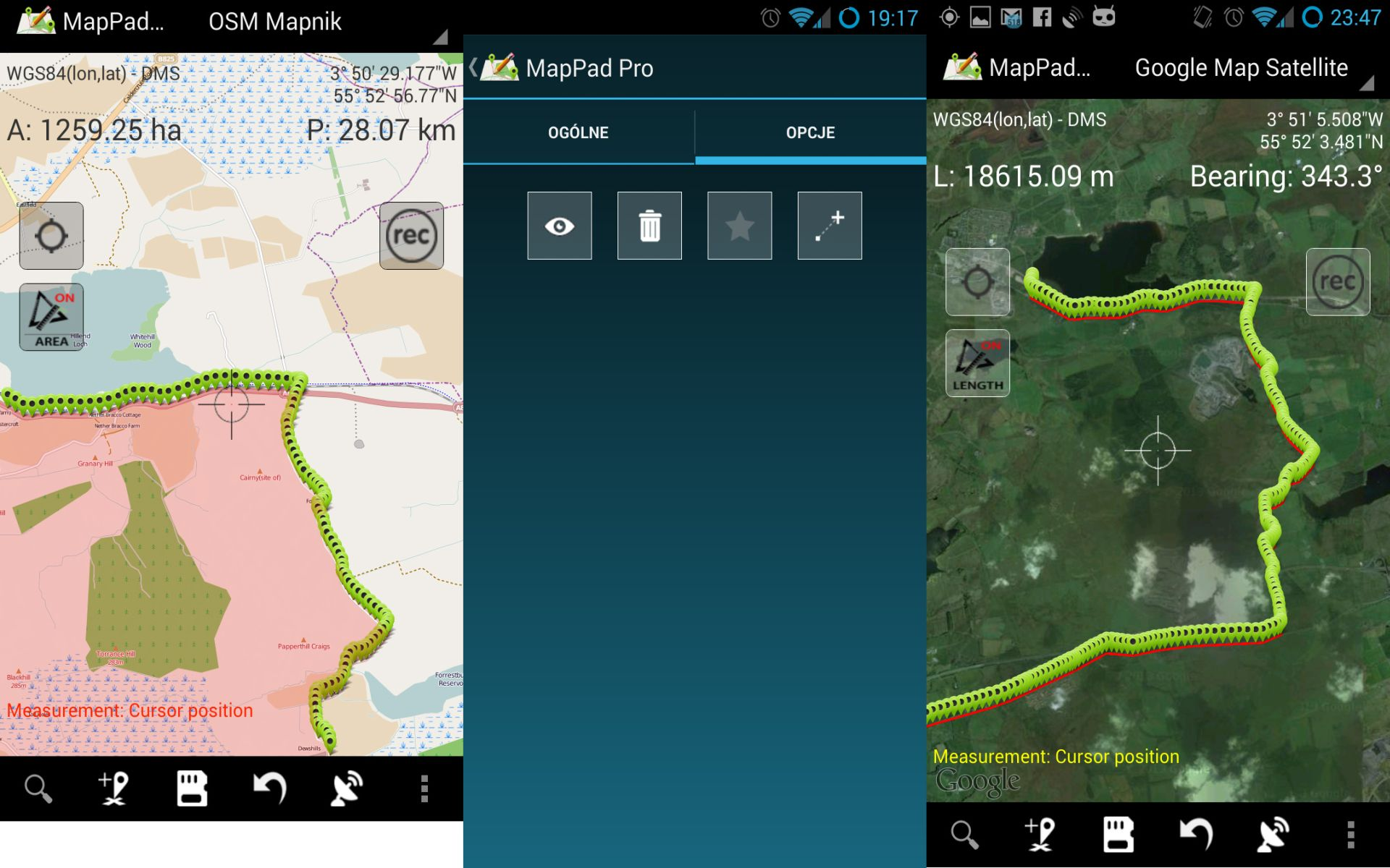 Mappad pro measure area or distance using for Calcolo metri quadri commerciali
