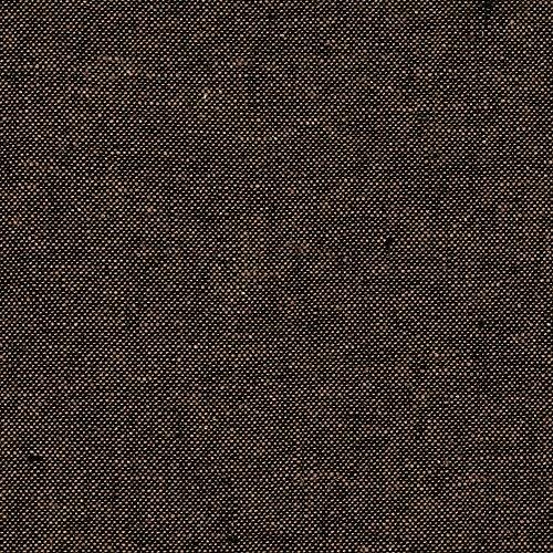 Robert Kaufman Kaufman Essex Yarn Dyed Linen Blend Espresso Fabric by The Yard, Muted Black