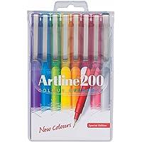 Artline 200 Bright Fineliner Pen 0.4Mm Wallet 8