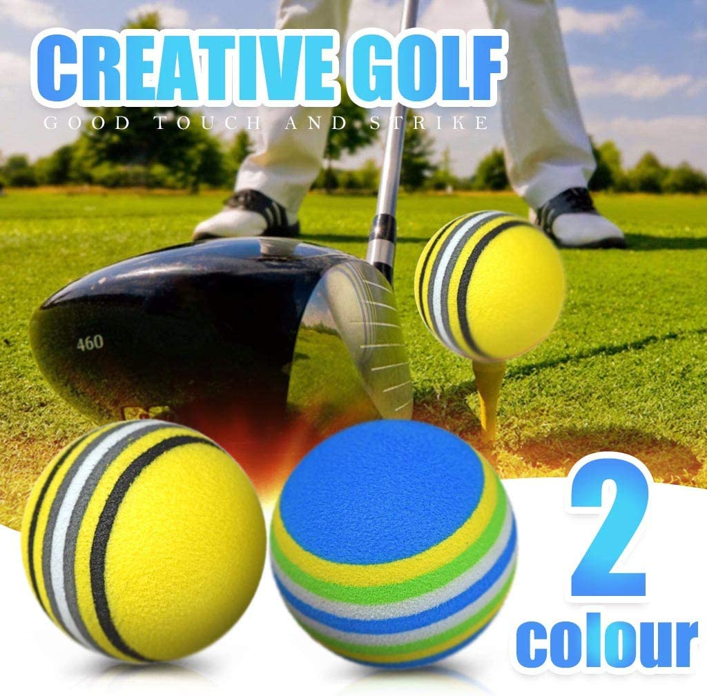 Foam Golf Practice Balls - 20Pcs Bulk Rainbow Colored Golf Training Balls for Driving Range, Men Swing Practice, Office & Home Use, Indoor/Outdoor Practice - Realistic Feel and Limited Flight