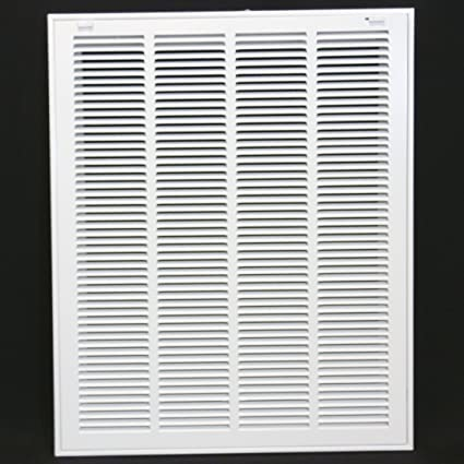 """.com: 20"""" x 25 steel return air filter grille for 1"""" filter ..."""