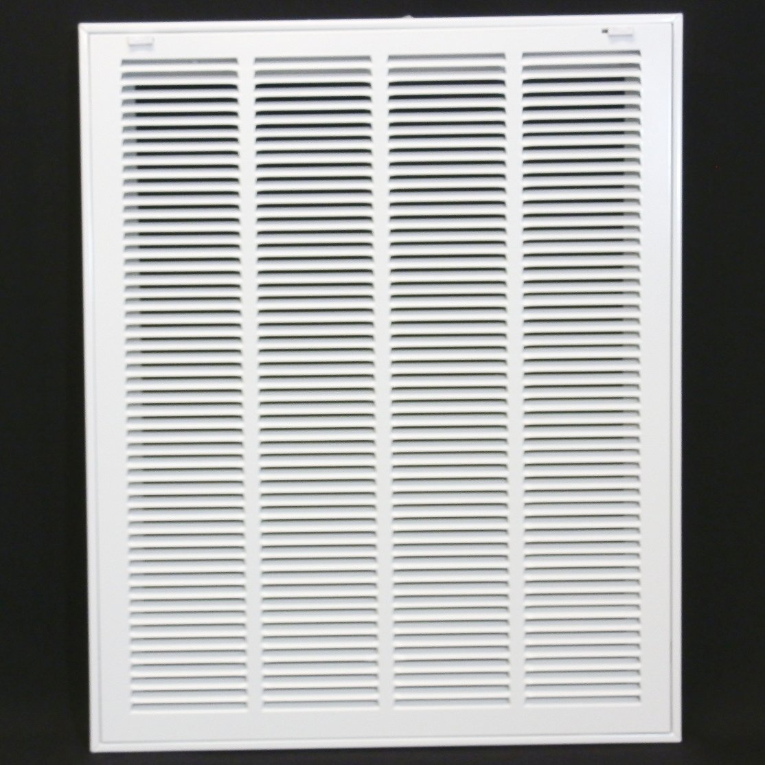 20'' X 25 Steel Return Air Filter Grille for 1'' Filter - Removable Face/Door - HVAC Duct Cover - Flat Stamped Face - White [Outer Dimensions: 22.5 X 26.75]
