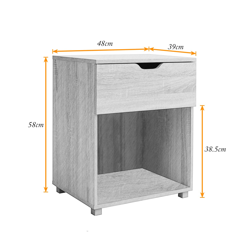 soges Mueble cajón de 1 cajones 48 x 39 x 58cm Cajonera de ...