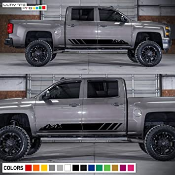 Amazoncom Decal Sticker Vinyl Side Stripe Kit Compatible With - Chevy silverado stickers