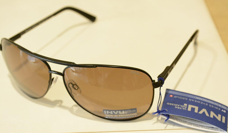 INVU Gafas de Sol polarizadas B 1407 C Negro Lentes 100% UV Block ...