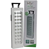 Bulfyss 30 LEDs ABS Rechargeable Emergency Light - (White, 2.4W)