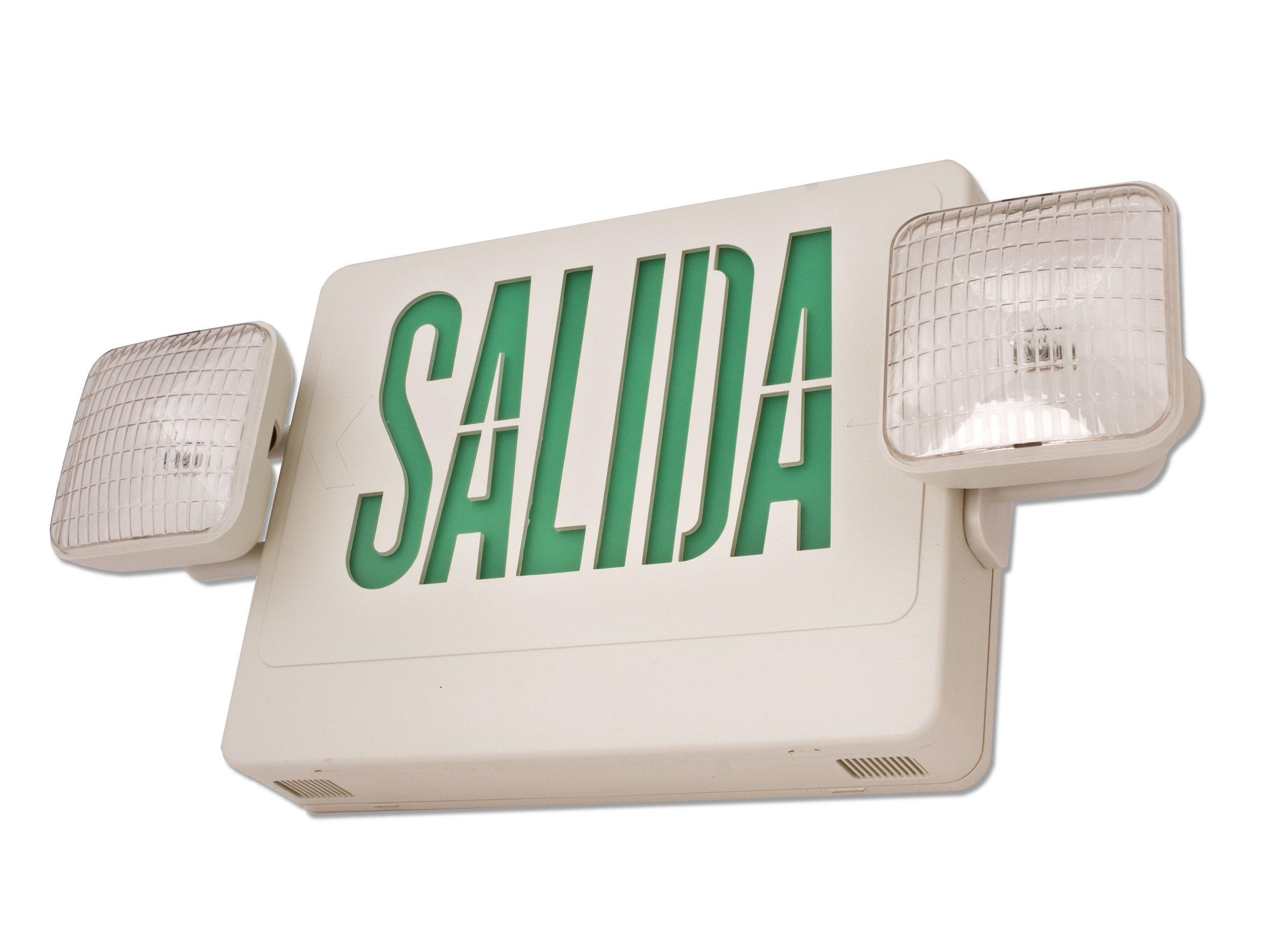 Howard Lighting HL02143GW-ESP-RP1 Spanish Exit Sign/Emergency Light Combo