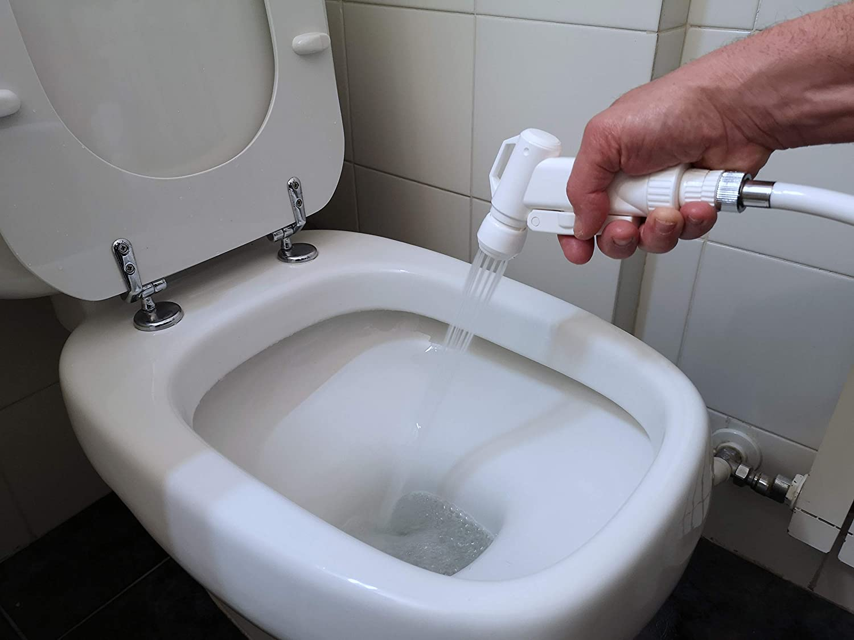 Doccetta Doccia Ideale per Igiene Personale Strumento Spruzzatore a Mano per Bidet Portatile Kit Tubo Siroflex Doccetta per WC 2013//2S Bagno