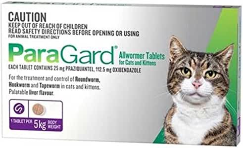 Paragard Allwormer 4 Tablet for Cat, 4 Count