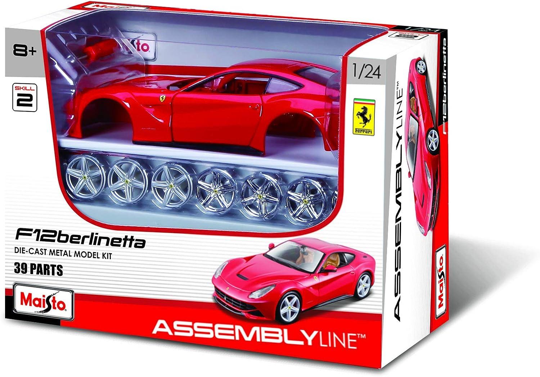 Toycentre Maisto Model Kit Ferrari F12berlinetta Car 1 24 Scale 39121 Red New Amazon De Spielzeug