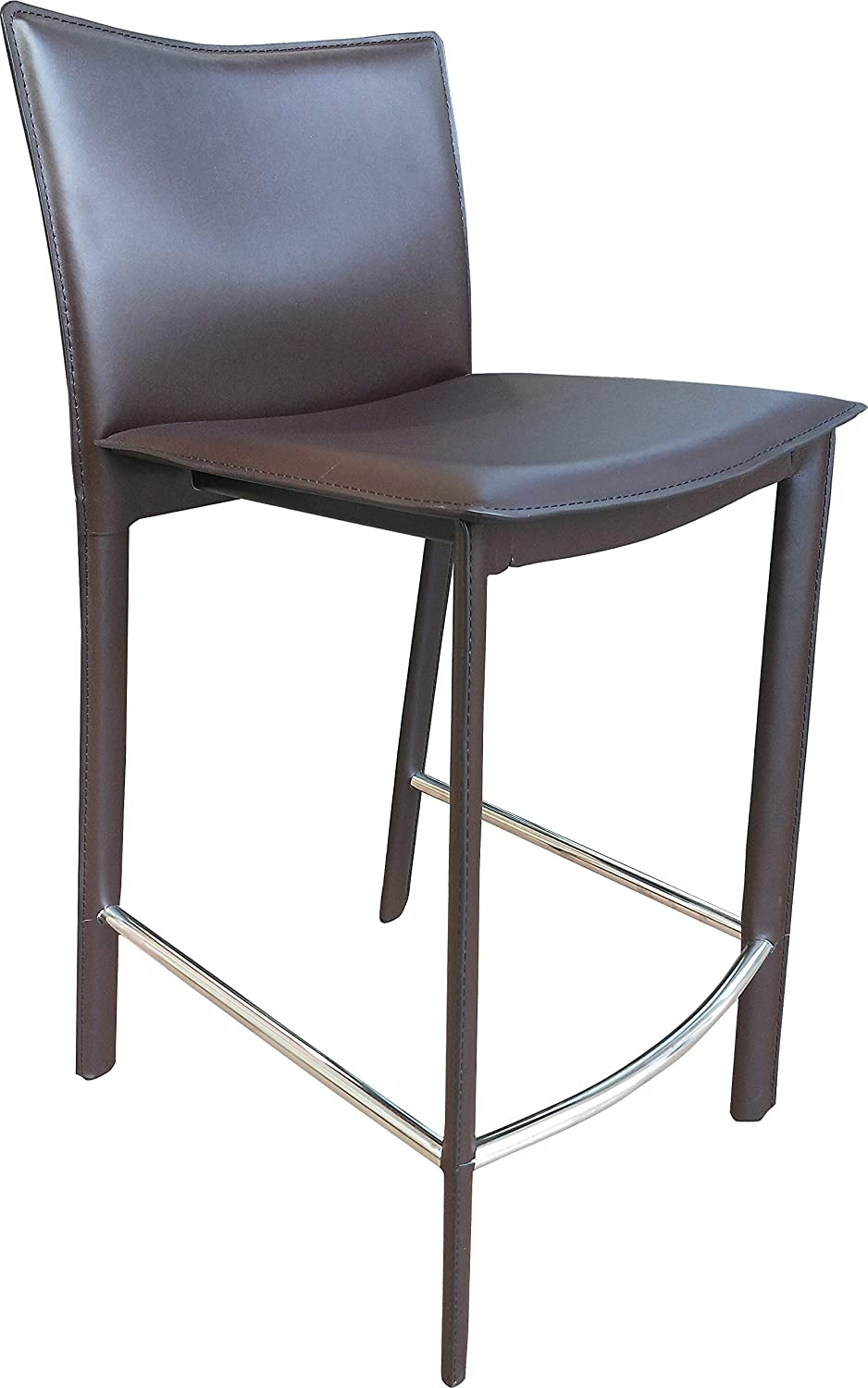 Moe's Home Collection Ponka Counter Stool, Dark Brown