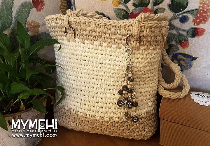 Bolso tote bag de hombro, diseño exclusivo hecho a mano ...
