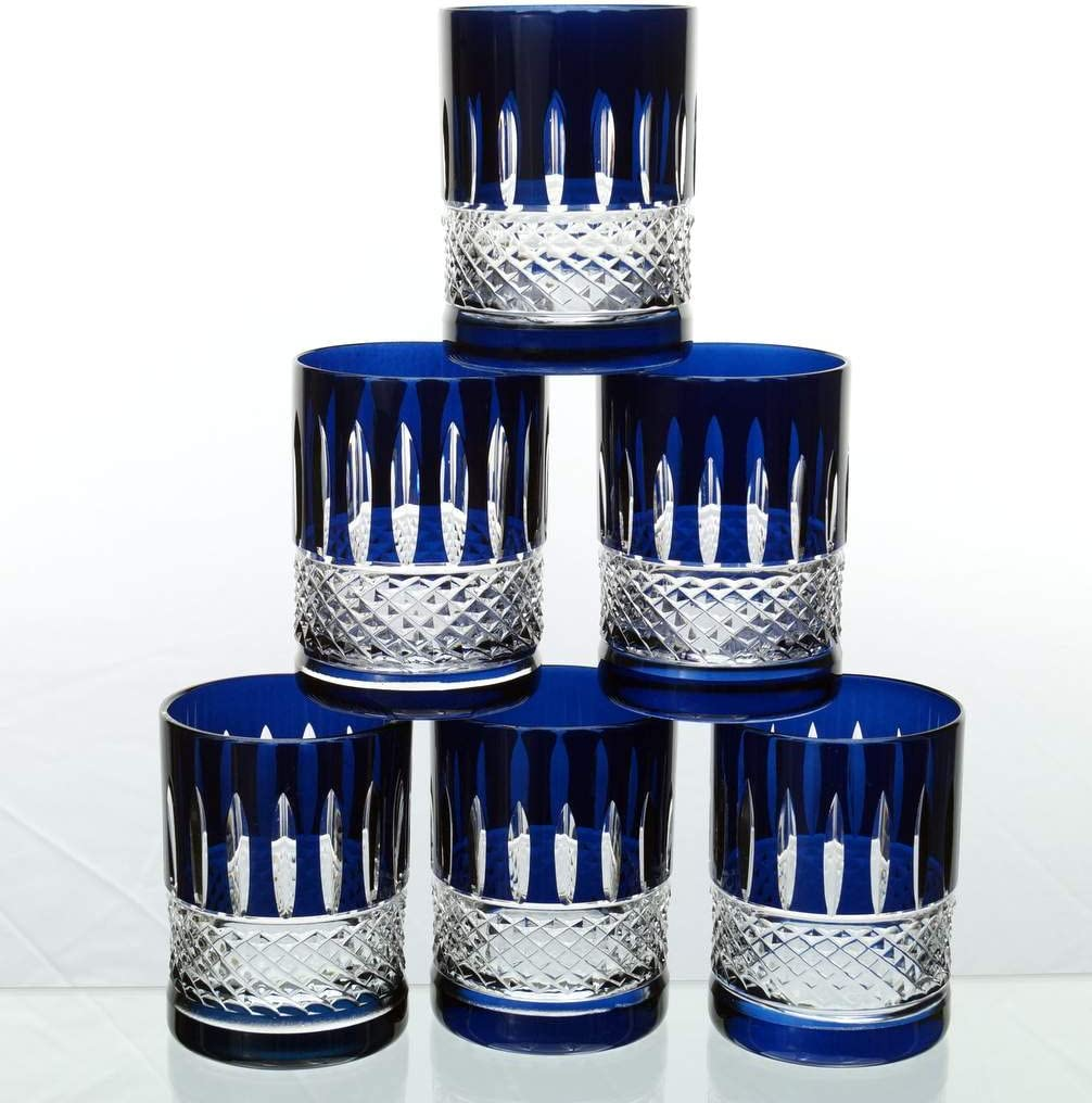 6 x Verres /à th/é turc exklusiv en cristal /à th/é marocains arabes