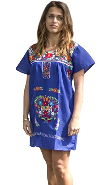 72c48fc2902 Amazon.com  Liliana Cruz Embroidered Mexican Youth Girls Dress (0 ...