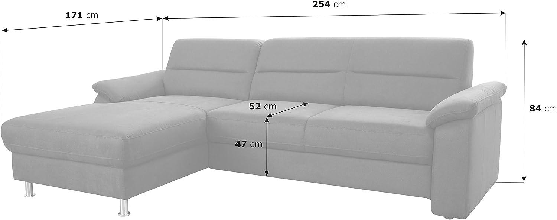 Cavadore Ascaro Corner Sofa with Long Chair Left Box Spring Sofa ...